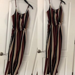 Autumn Sexy Striped Jumpsuit/Romper Size L